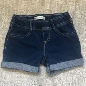 Levi's Girls Blue Knit Jean Shorts Sz 8